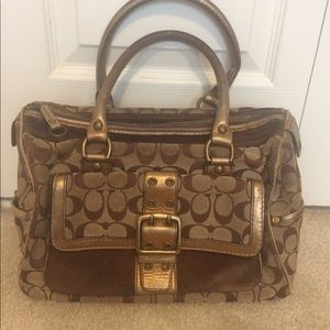 Gold brown Coach purse limited edition